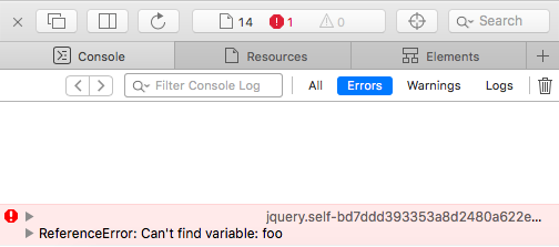 Rails SJR JavaScript Runtime Error - Try-Catch in Console